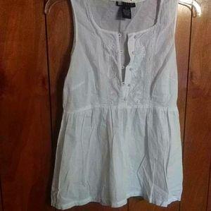 Carole Little white flowy tank top blouse